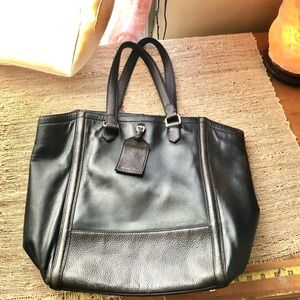 Reiss Bags - REISS Black Leather Shoulder Bag EUC